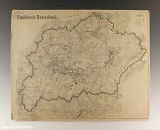 Karte Stadtkreis Remscheid um 1950