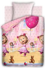 Masha and the Bear baby bedding set Birthday 1.5 bedroom pillow case duvet cover