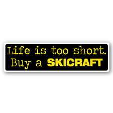 Buy a Skicraft sticker 180mm quality vinyl water & fade proof  speed boat