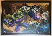 More details for framed lithograph : dreamwave transformers generation 1 : devastator superion