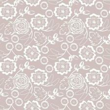 Mauve Taupe Flower Floral Self Adhesive Vinyl Contact Paper Peel Stick Wallpaper