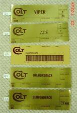 Colt Gold Foil Box End Labels,Python, Ace, Gold Cup,Trooper