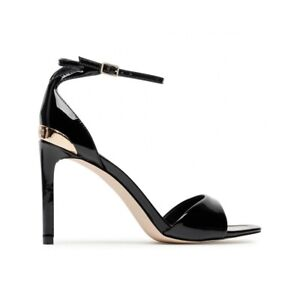 GUESS Divine FL5DV2PAF03 Sandalia Charol Negro Décoletté Zapatos Talón Pin Pell