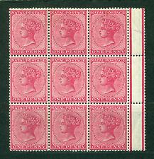Natal 1874, British colony, Victoria, Marginal Block of 9 MNH 1094