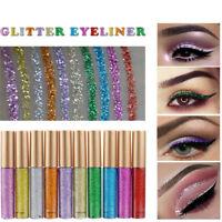 10Pcs wasserdicht Bilden Lidschatten Glitzer Liquid Eyeliner Kosmetik 10 Farbe