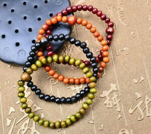 6mm and 8mm Sandalwood Buddhist Prayer Beads Mala Bracelet UK Various Color