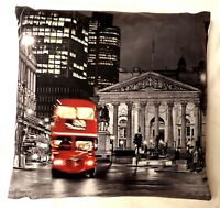 London Red Bus Digital Printed Cushion Cover Red Bus 2