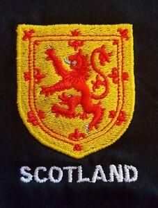 LION RAMPANT HERALDIC SHIELD EMBROIDERED ON A POLO SHIRT SCOTLAND SCOTTISH SCOTS