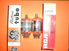 LOT OF 2 NOS General Electric  RCA 6JM6 VACUUM TUBES, TESTED B&K 747B