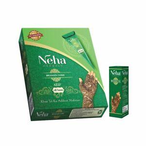 Neha Natural Oil Based Henna Mehandi Cones Temporary Tattoo Free Mehandi Oil