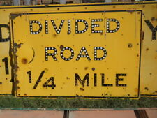 """Big 40"""" by 58"""" DIVIDED ROAD 1/4 MILE Road Interstate Freeway Sign California"""