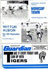 WORKSOP TOWN  V  WITTON ALBION 8/9/1984 northern premier league PROGRAMME