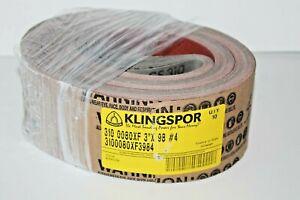 "10 Klingspor CS310 X-Flex  3"" x 98""  #4 Belts P80  3100080XF3984"