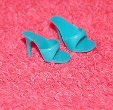 Vintage Barbie Original Turquoise Open Toe Shoes Pumps Japan American Girl