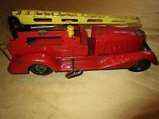 Vintage Pre-War Marx Girard Pressed Steel Wind Up Fire Truck Engine Toy