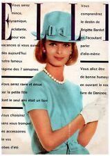 ▬►Elle 855 (1962) BRIGITTE BARDOT_COVER BALMAIN_ORSON WELLES_MODE FASHION