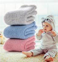 5 Pairs Boys Girls Baby Kid Wool Cashmere Warm Thick Winter Terry Socks Lot 0-6Y