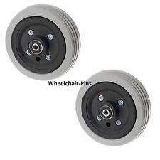 "6"" x 2"" Flat-Free Caster Wheels Assembly for Jazzy Power Wheelchair Chairs (OEM)"