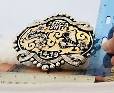 Large Bob Berg Sterling Silver Championship Buckle 263 gms