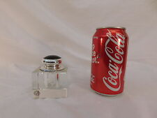 FATHI DESIGN GERMANY CUT CRYSTAL INK WELL SILVER PLATE TOPPER