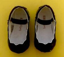 Baby Bloch Black Patent Size 16 Scalloped Ballerina
