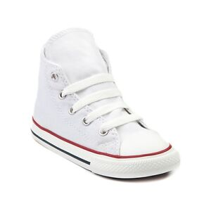 Converse All Star Hi Chucks Infant Toddler Optical White Canvas Shoe 7J253