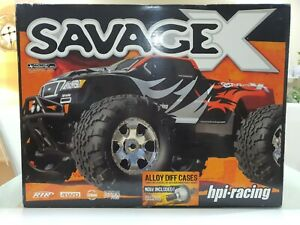 HPI RACING 1/8 SAVAGE X 4.1 4WD MONSTER TRUCK RTR + 3 SPEED TRANSMISSION - RARE