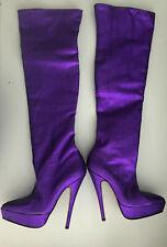 leatherworks Gaborit Glitter purple platform boots 17cm fetish high heels 43 42