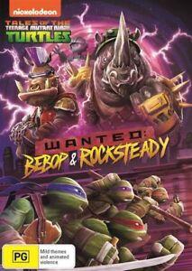 Teenage Mutant Ninja Turtles - Wanted - Bebop & Rocksteady (DVD, 2017), NEW R4
