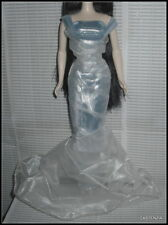 DRESS MATTEL BARBIE DOLL MIDNIGHT MOON PRINCESS FITTED SILVER BLUE EVENING GOWN