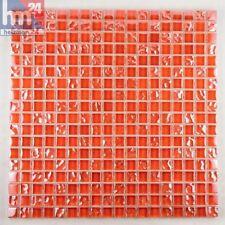 Pâte De Verre tanrasi carrelage mosaïque orange-rouge 29,5x29,5x0,6cm Pool ,