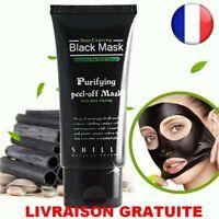 Masque Charbon Nettoyant Point Noirs Acné Visage Peeling Black Mask 50ml Beauté