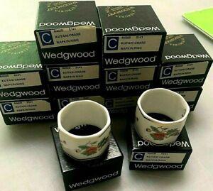 12 Wedgwood Bone China Kutani Crane Made in England R4508 Napkin Rings MINT