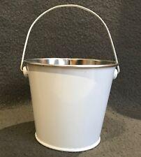 METAL BUCKETS / POTS - 12 Mini White Metal Buckets For Multiple Use BARGAIN!