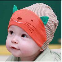 All Season Winter Warm High Quality Cotton Baby Beanie Skull Cap Cute Cat Face