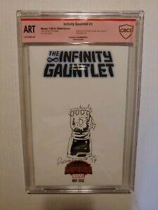 CBCS GRADE ART Infinity Gauntlet Blank Var.  #1, SIGNED & ART BY JOE RUBINSTEIN