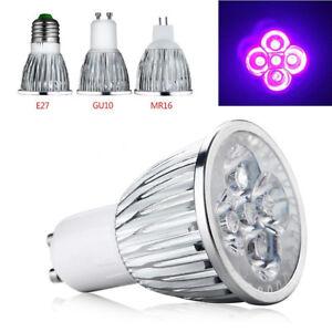 New E27 GU10 MR16 5W UV LED Ultraviolet Spotlight Lamp Light Mini Bulb AC85-265V
