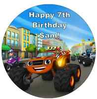 """Blaze And The Monster Machines Personalised Cake Topper 7.5"""" Edible Wafer Paper"""