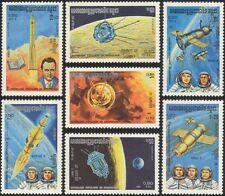 Kampuchea 1984 Space/Korolov/Rocket/Satellites/Luna/Soyuz 6,7,8   7v set (b7998)
