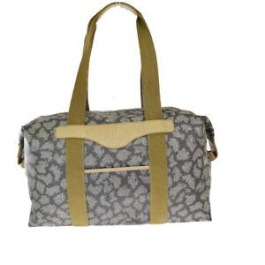 Auth Yves Saint Laurent PVC,Leather Shoulder Bag Brown 08GB379