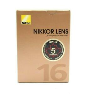 Nice Nikon Nikkor AF Fisheye-Nikkor 16mm f2.8D Lens Box Only #B1052