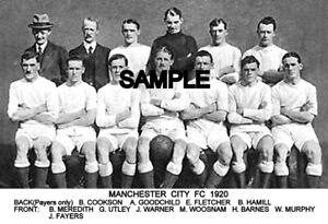 Manchester City FC 1920 Team Photo