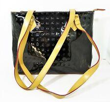 Arcadia Black Patent Leather Tote Shoulder Bag