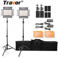 Travor 2PCS/Set 600 LED Video Light Photography Camera Studio Lighting Kits Set