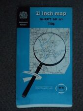 "Ordnance Survey 2.5"" Map SP91 Tring 1960 Aldbury Little Gaddesden Ivinghoe Chedd"