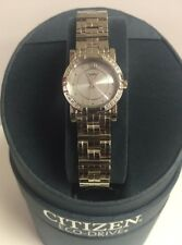 CITIZEN ECO-DRIVE EP5540-56A ELEKTRA DIAMOND BEZEL WATCH