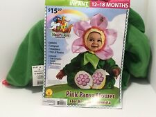 Pink Pansy Flower Costume Toddler Little Girls Size 12-18 Months Dress Up - New