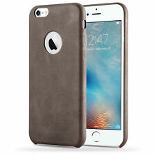 Plain Synthetic Leather Fitted Cases for Apple Phones