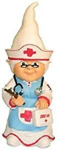 """Nurse Thematic Garden Gnome Medical School Hospital Office NEW 11"""" - Great gift!"""