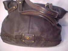 "12"" x 16"" M-L Handbag THE SAK Dark Brown Hobo purse double straps 10"" drop"